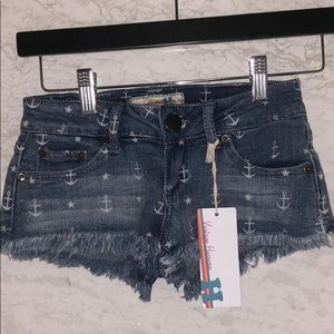 Anchor jean shorts